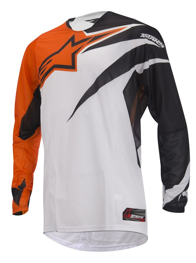 Alpinestars Techstar off-road jersey orange black