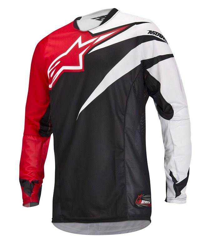 Maglia cross Alpinestars Techstar rosso nero