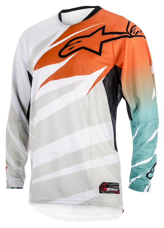 Alpinestars Techstar 2014 offroad jersey white orange marine