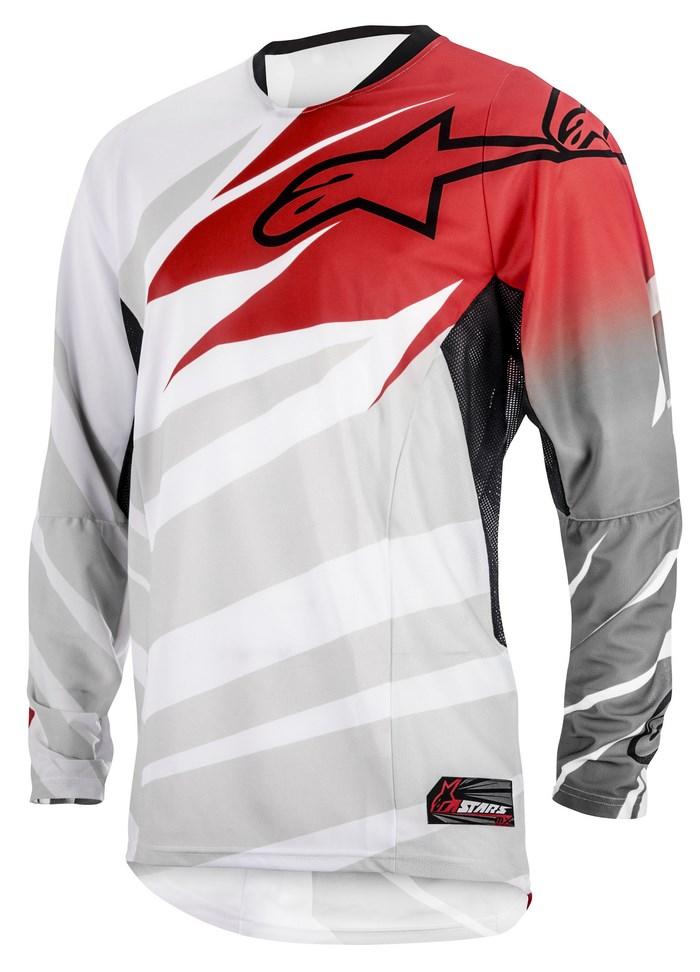 Maglia cross Alpinestars Techstar 2014 bianco rosso grigio