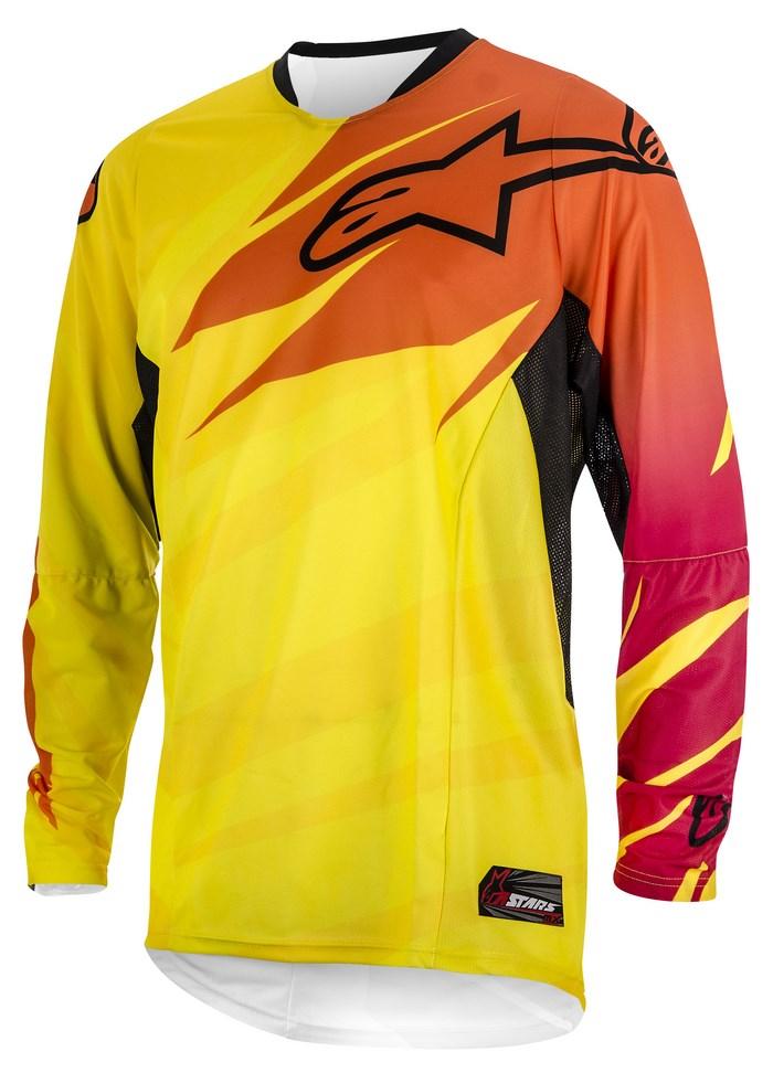 Maglia cross Alpinestars Techstar 2014 giallo arancio rubino