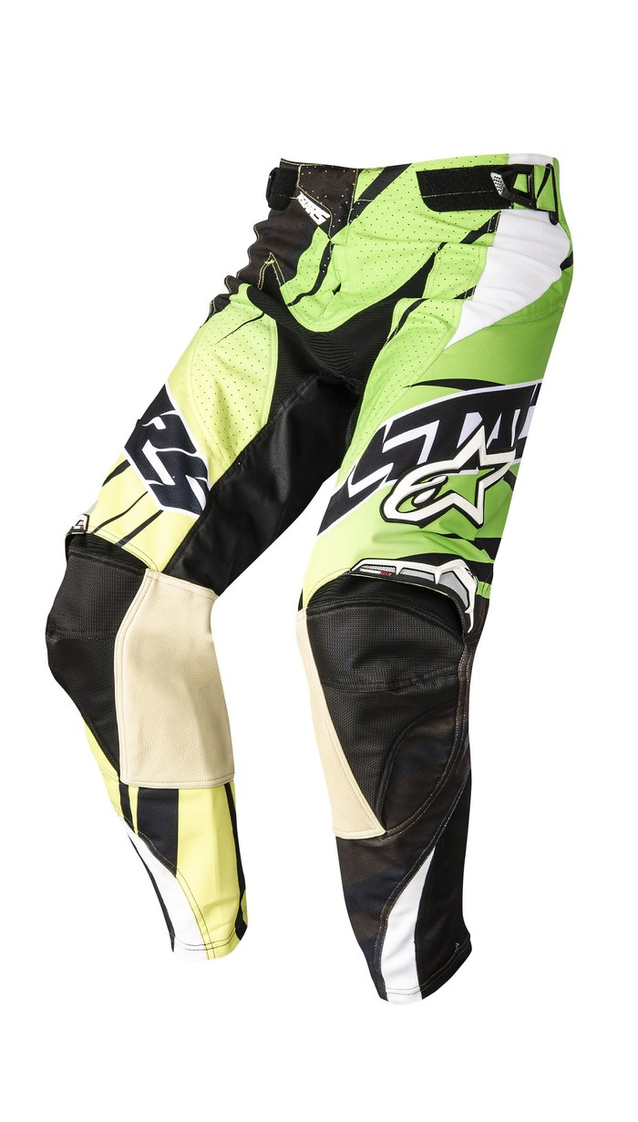 Pantaloni cross Alpinestars Techstar 2014 nero verde lime