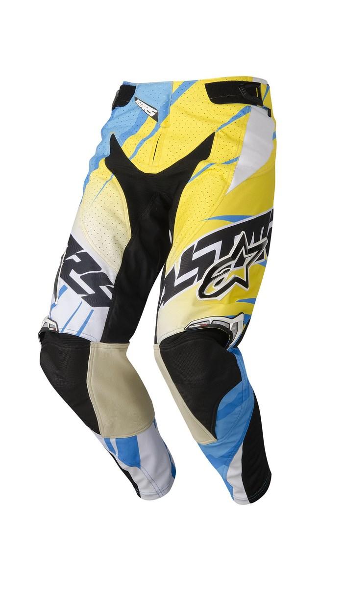 Alpinestars Techstar 2014 offroad pants cyan yellow white