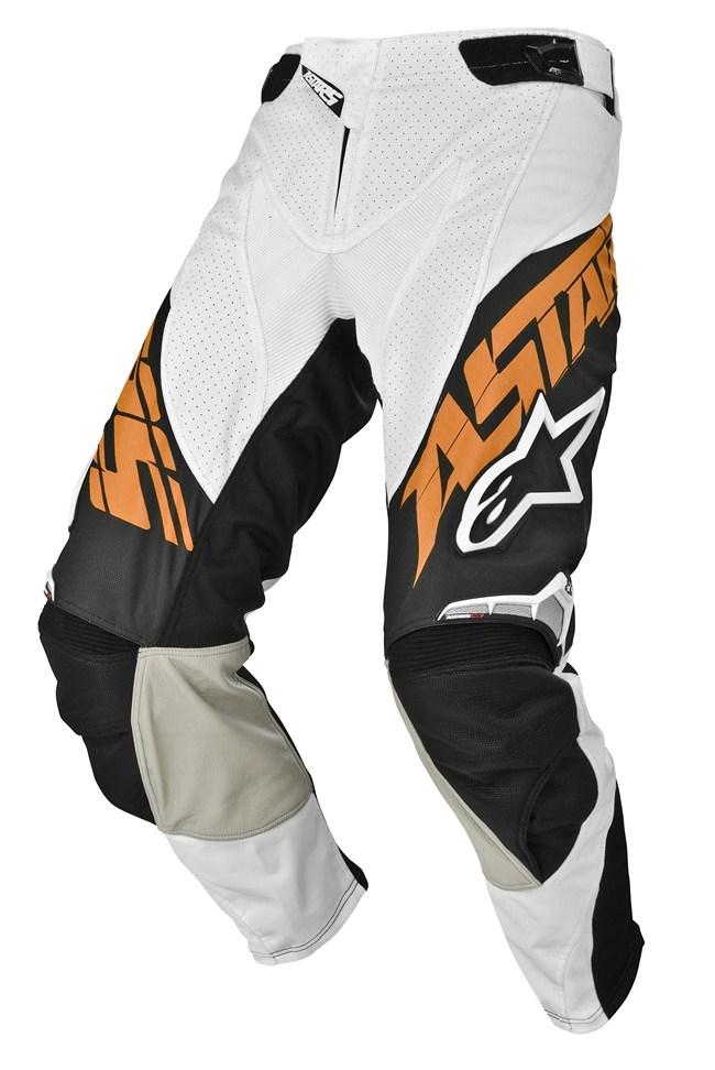 Pantaloni cross Alpinestars Techstar arancio nero
