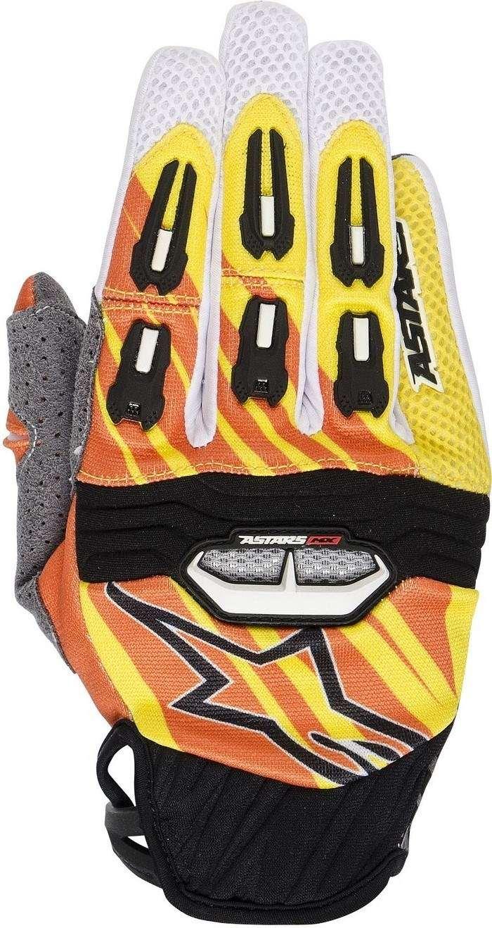 Guanti cross Alpinestars Techstar 2014 giallo arancio bianco