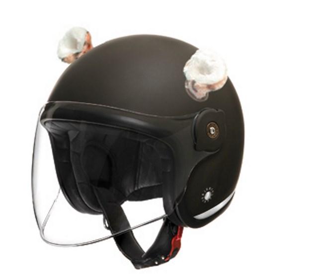 Tucano Urbano Helmet ears TM  leopard