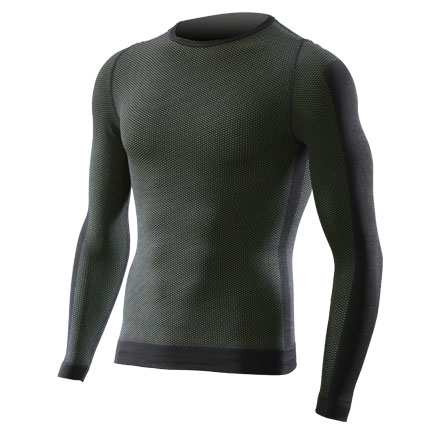 Base layer long sleeve Sixs Carbon Army Green