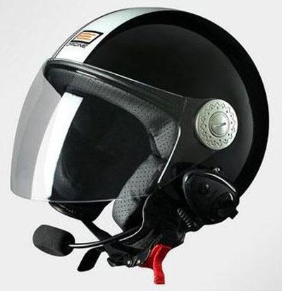 Origine Pronto Tony jet helmet with Bluetooth Black White