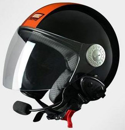 Origine Pronto Tony jet helmet with Bluetooth Black Orange