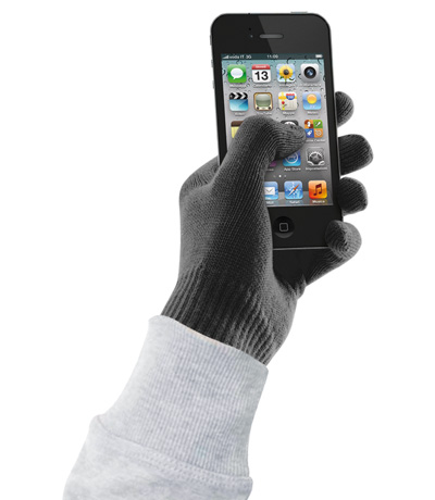 Cellular Line Touch Screen gloves for Smartphone black size L-XL