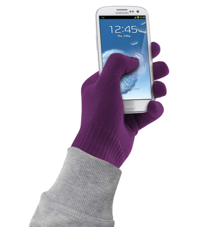 Guanti Touch screen Cellular Line per Smartphone viola tg. S-M