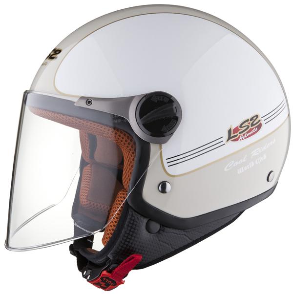 LS2 OF560 Travis open face helmet White-Sand