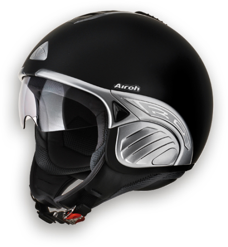 Casco moto Airoh Troy Color nero opaco