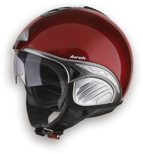 Airoh Troy Color het helmet red