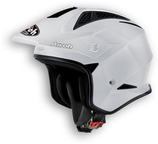 Casco moto off-road Airoh TRR Color bianco lucido
