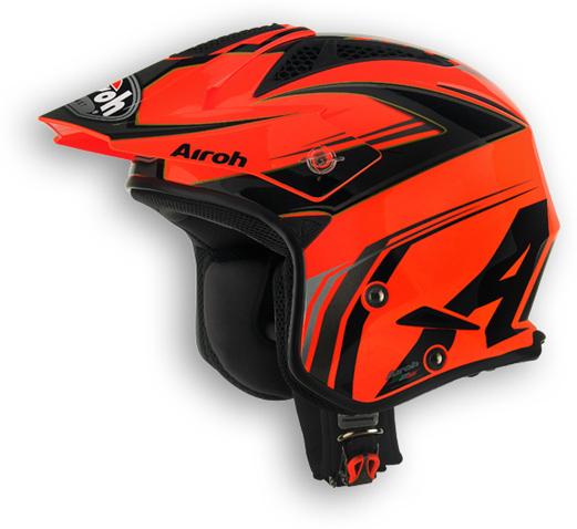 Off road motorcycle helmet Airoh TRR Dapper glossy orange