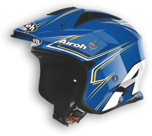 Casco moto off road Airoh TRR Smart blu lucido
