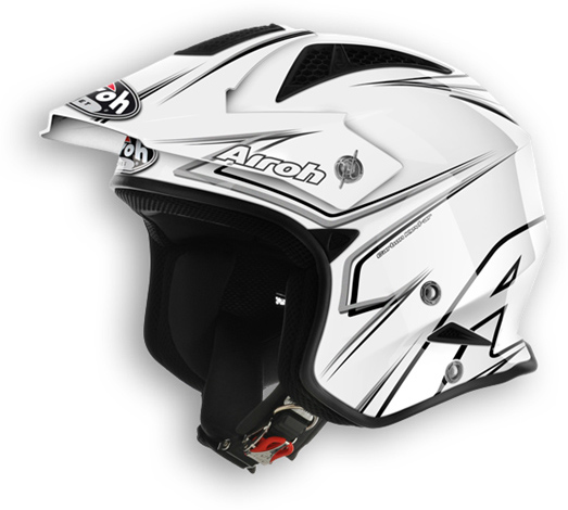 Off road motorcycle helmet Airoh TRR Smart glossy white