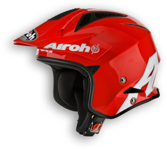 Airoh TRR Steel off-road helmet red gloss