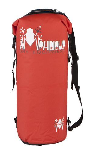 Waterproof bag saddle Amphibious 5 Red Tube