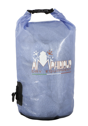 Waterproof bag saddle Amphibious Transparent Blue 40