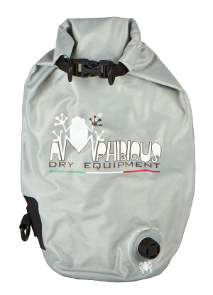 Borsa impermeabile da sella Amphibious Tube Light Evo 40 Grigio