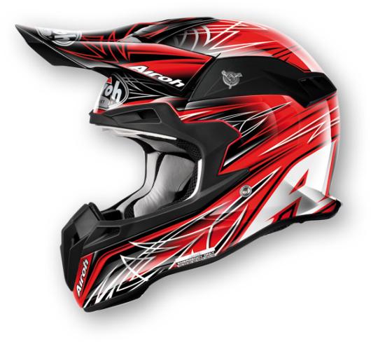 Casco moto cross Airoh Terminator Sharp rosso