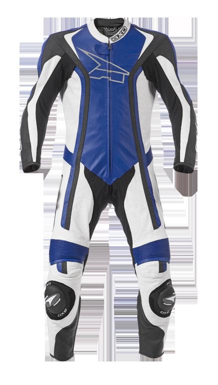 Tuta moto pelle AXO Talon Blu