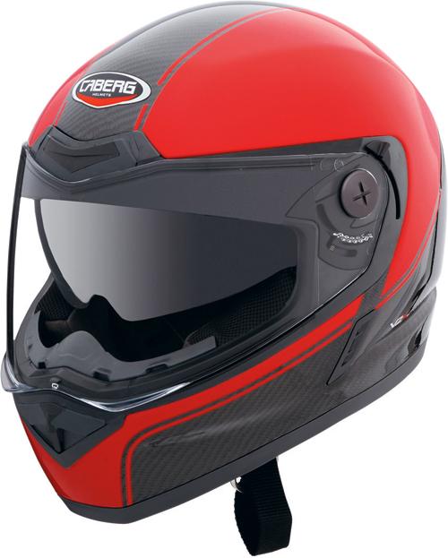 CABERG V2X Carbon Edge full-face helmet black-red