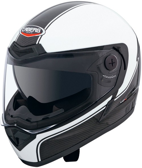 CABERG V2X Carbon Edge full-face helmet black-white