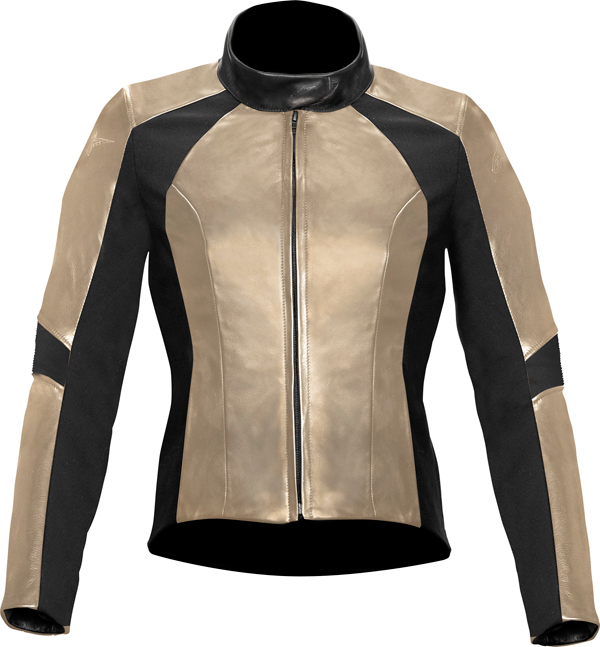 Alpinestar Stella Vika Waterproof leather women jacket champagne