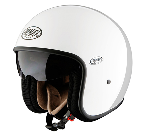 Premier Vintage jet helmet White