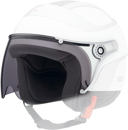 Long-scratch clear visor Caberg Uno