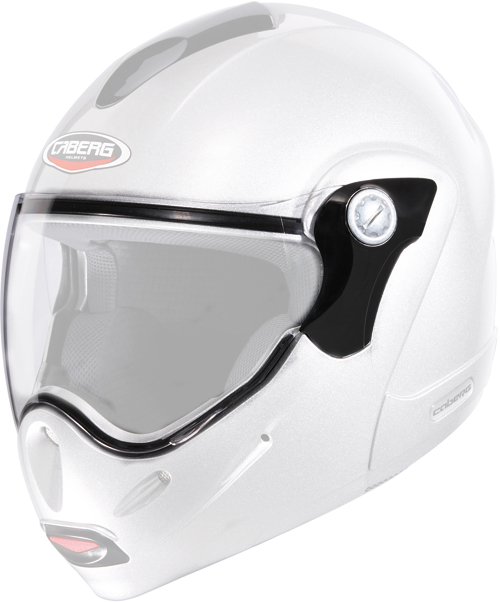 Caberg iridescent Silver antiscratch visor for Rhyno