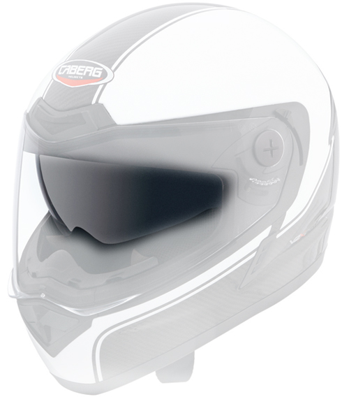 Iridescent silver antiscratch little visor Caberg V2X Carbon