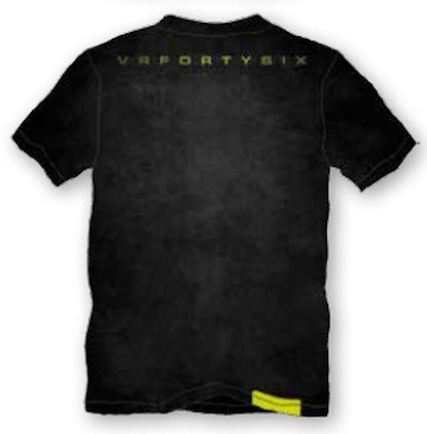 VR46 t-shirt black stone washed