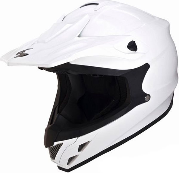Casco cross Scorpion VX 15 Air Bianco
