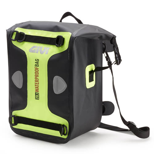 Borsa da sella impermeabile Givi Waterproof Nero Giallo