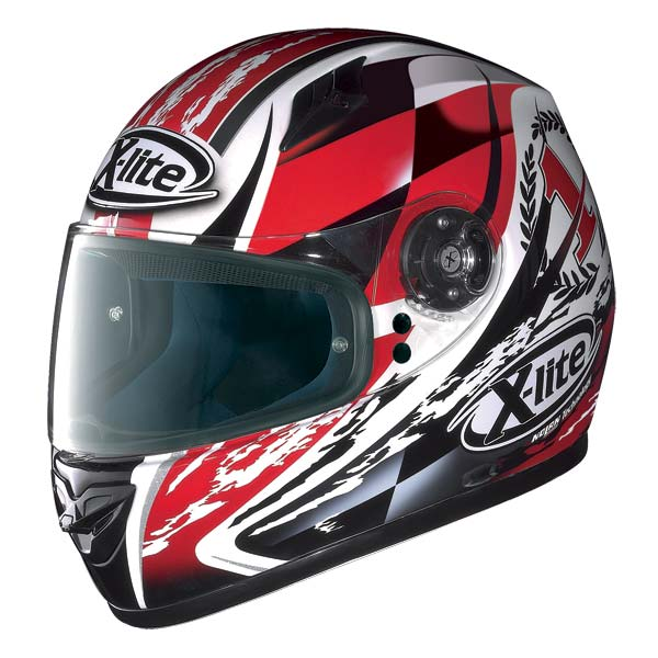 Casco moto X-Lite X-602 Winner N-Com bianco rosso 66