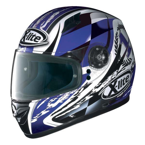 Casco moto X-Lite X-602 Winner N-Com bianco blu 68