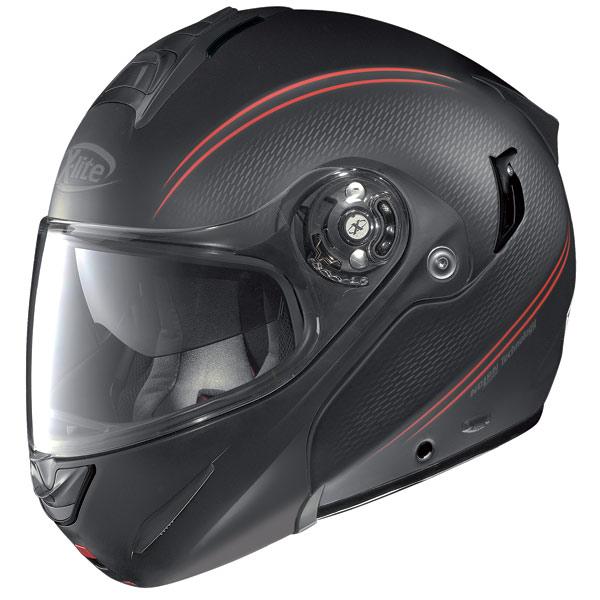 Motorcycle helmet flip-up  X-Lite X-1003 N-Com Tourer flat black