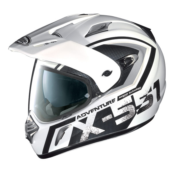 X-Lite X551 Adventure N-Com metal white grey enduro helmet