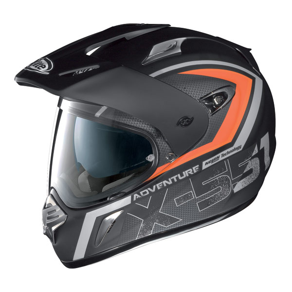 X-Lite X551 Adventure N-Com flat balck-red enduro helmet