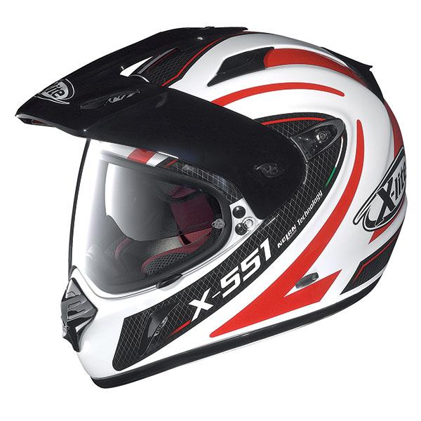 X-Lite X-551 GT Shift N-Com full face helmet White Black Red