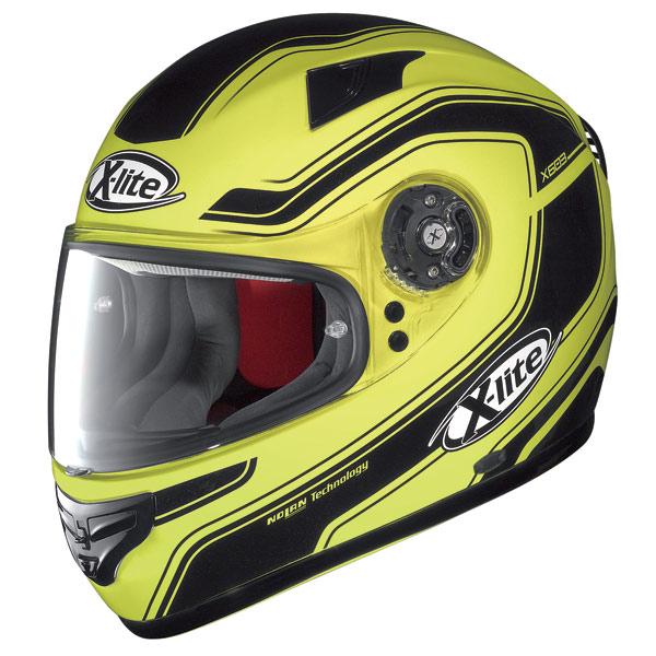 Casco moto X-Lite X-603 Street N-Com giallo fluo
