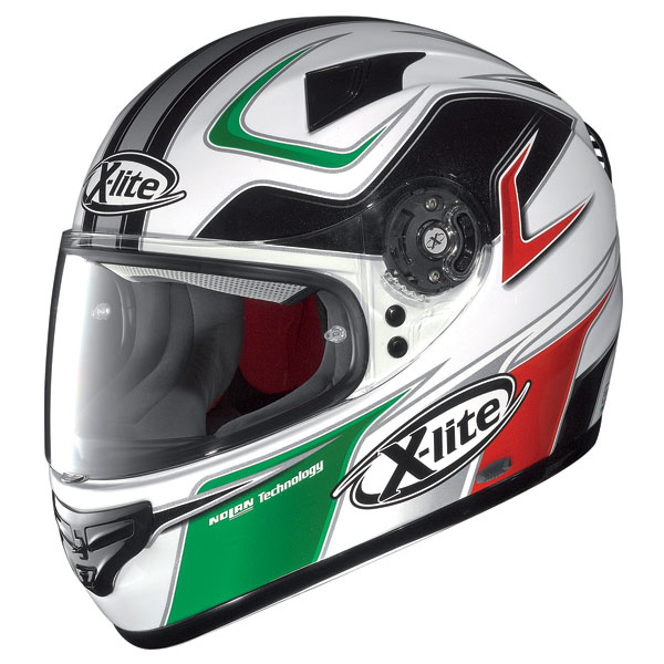 X-lite X-603 Speedy N-Com white-red-green fullface helmet