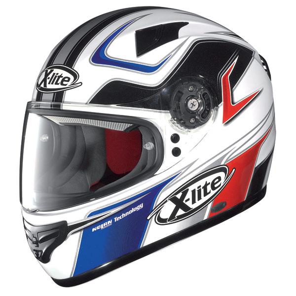 Casco moto X-Lite X-603 Speedy N-Com bianco-rosso-blu