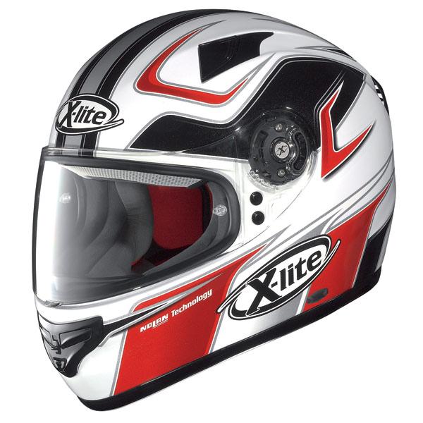 X-lite X-603 Speedy N-Com white-red fullface helmet