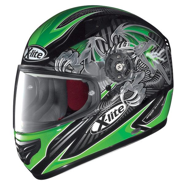 X-lite X-603 Hell N-Com metal black-green fullface helmet