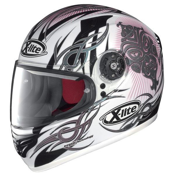 Casco moto X-Lite X-603 Mask N-Com metal white